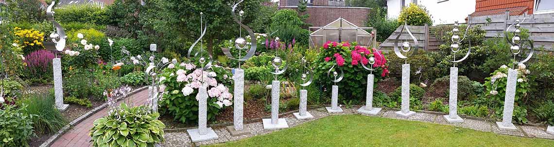 So individuell können auch Ihre Skulpturen bzw. Ihre Kunst-Objekte in Ihrem Garten sein.